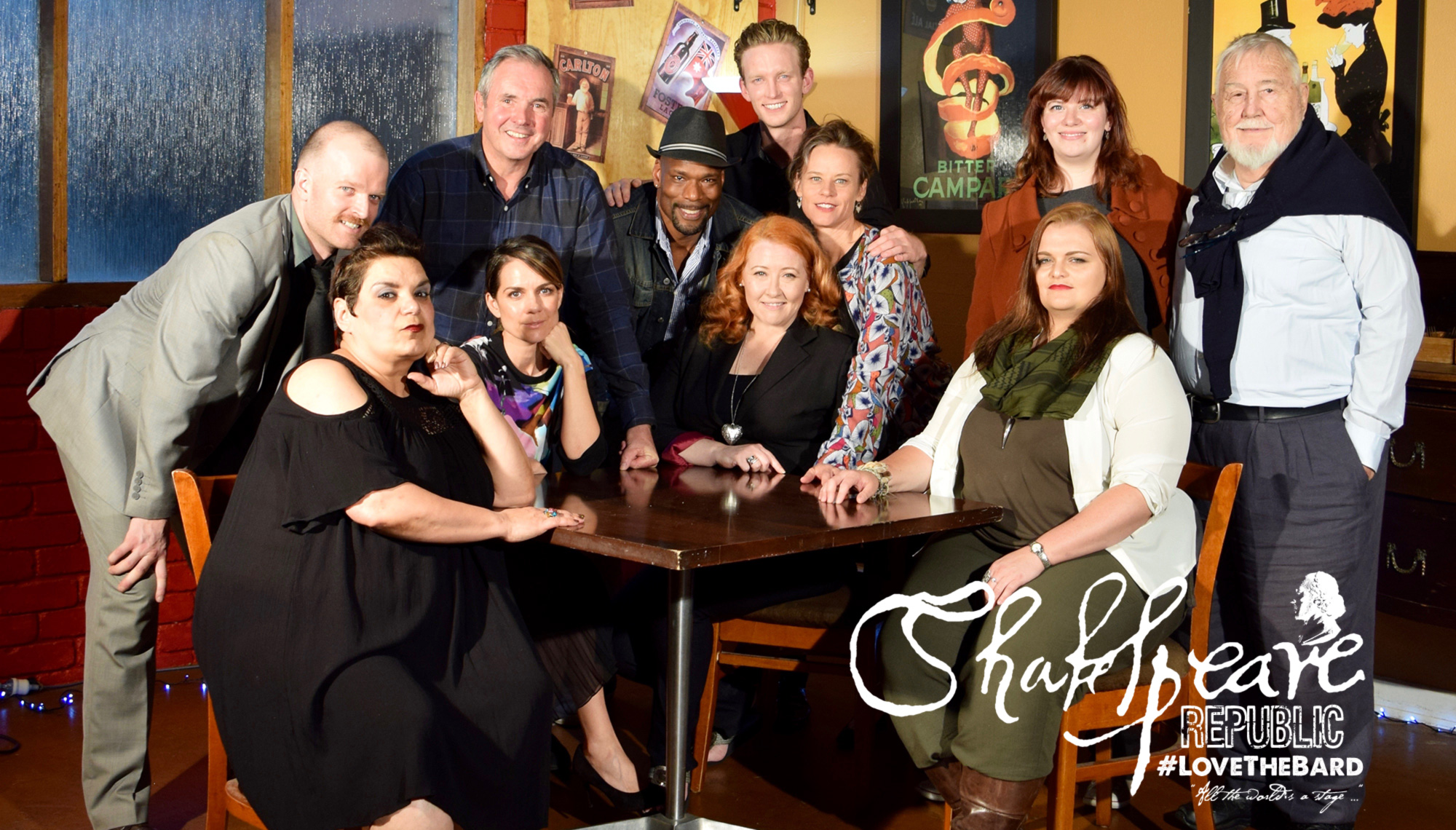 Some of Shakespeare Republic Season Two cast at Season Two Launch at the Courthouse Hotel, North Melbourne