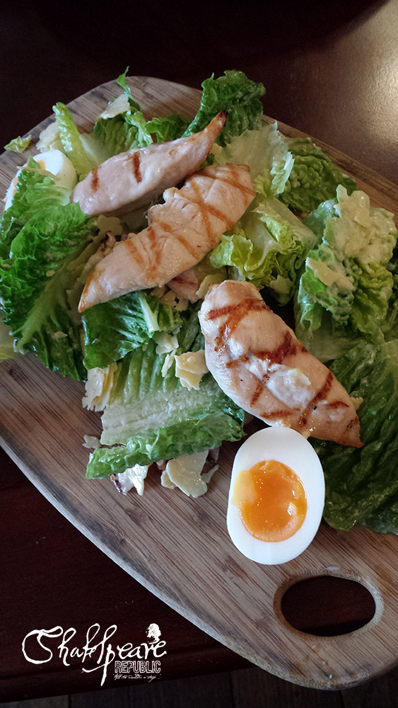 My gluten-free chicken Caesar salad - and yes, it was very tasty indeed! (Photo: Sally McLean)