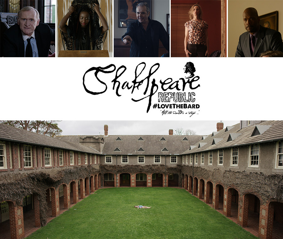Selected stills from in camera from the filming of Season Two. Top L-R: Dean Haglund, Tariro Mavondo, Alan Fletcher, Nadine Garner and Christopher Kirby. Lower image: Michala Banas from filming at Toorak College