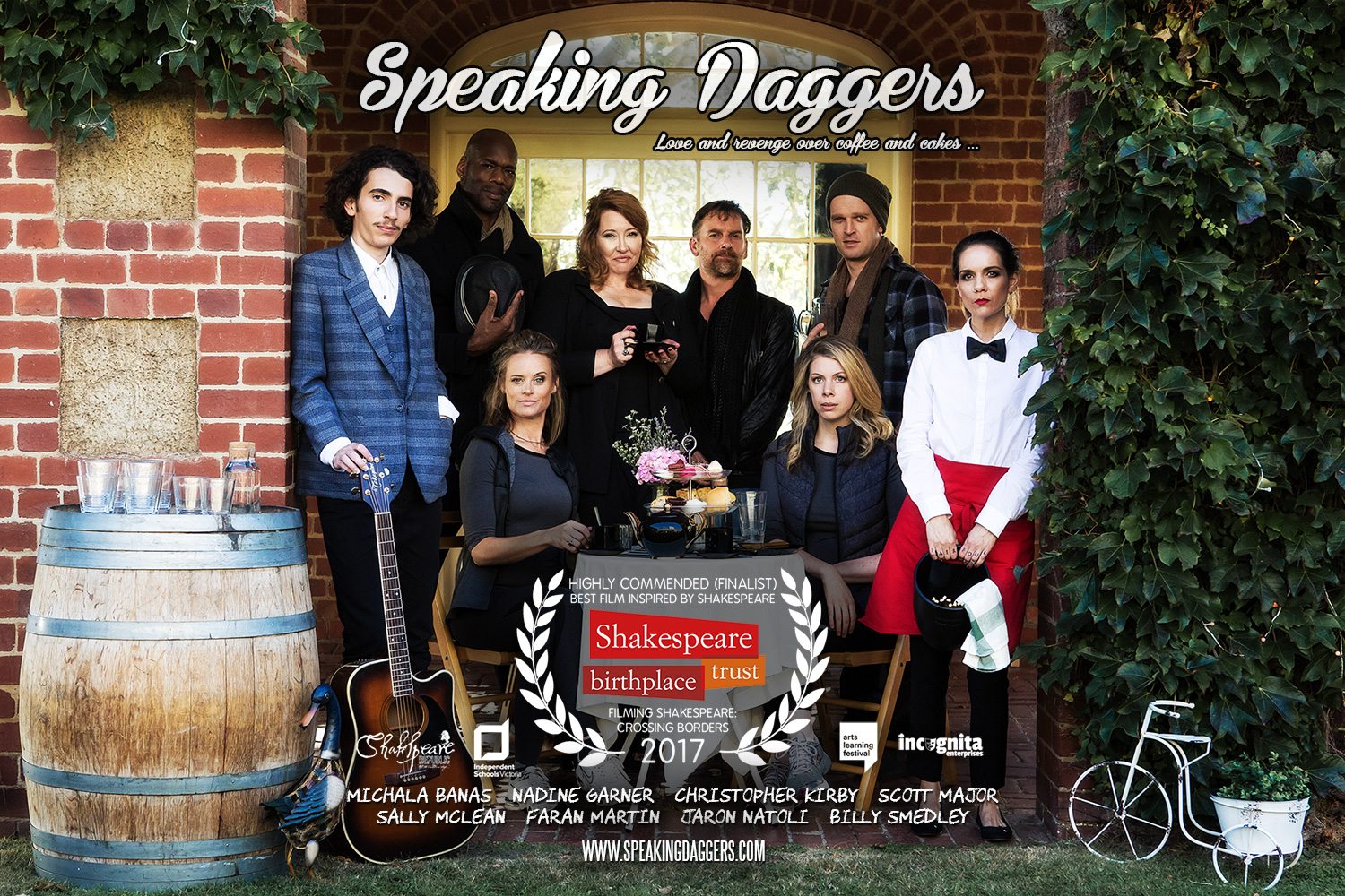 Speaking Daggers officially selected for the Shakespeare Birthplace Trust's Shakespeare Film Festival in UK!