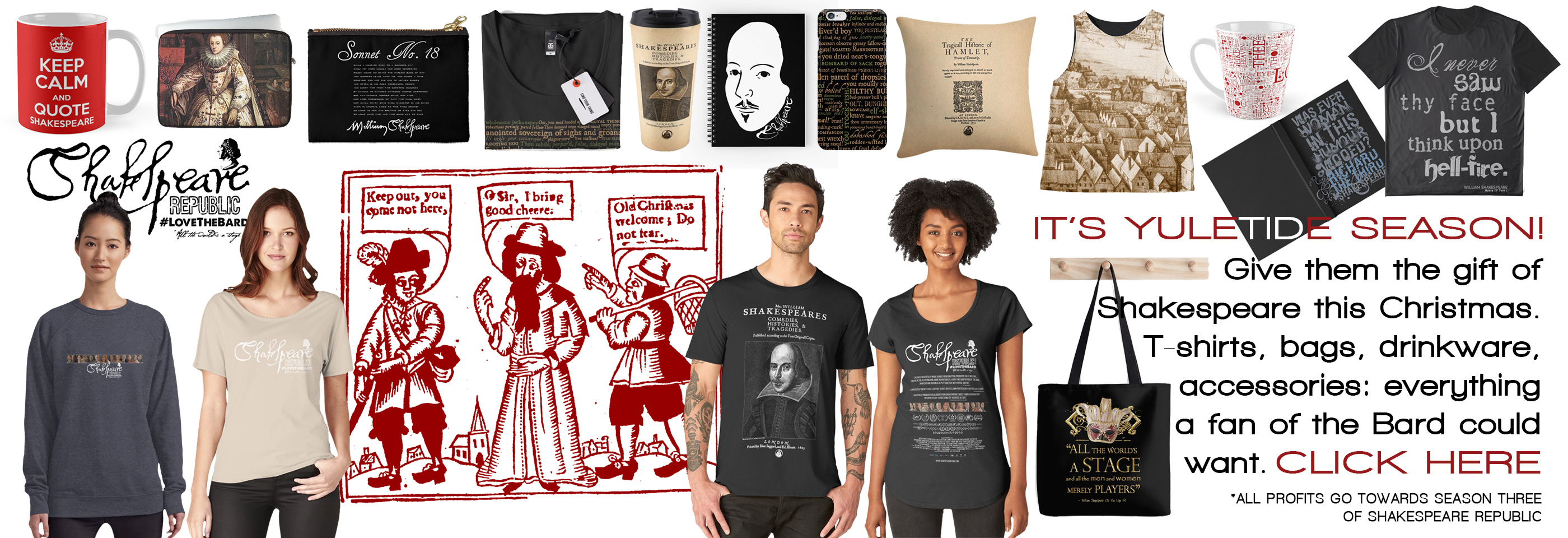 Do your Christmas shopping via Shakespeare Republic and support independent filmmakers at the same time!