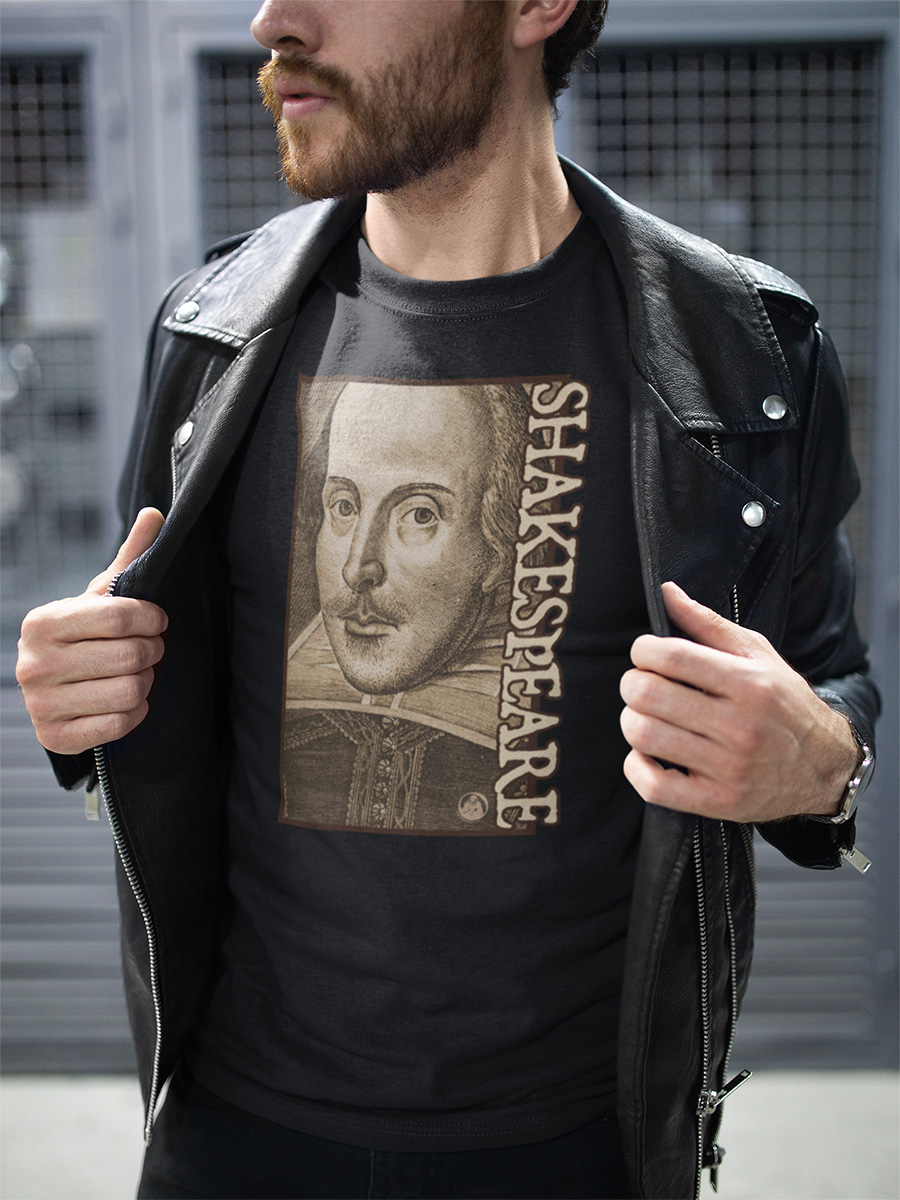 Shakespeare Droeshout Engraving Portrait Unisex T-shirt