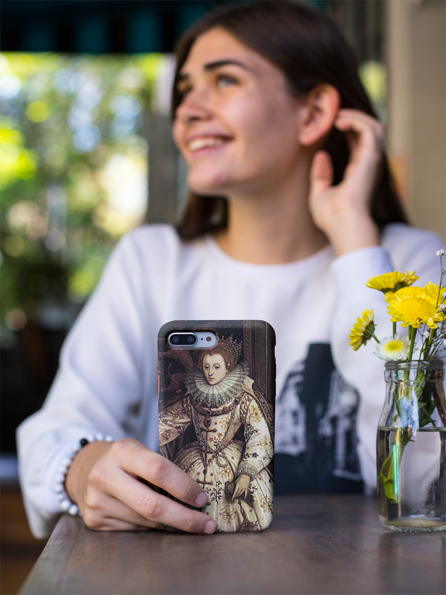 Queen Elizabeth I Restored Fan Portrait iPhone Case