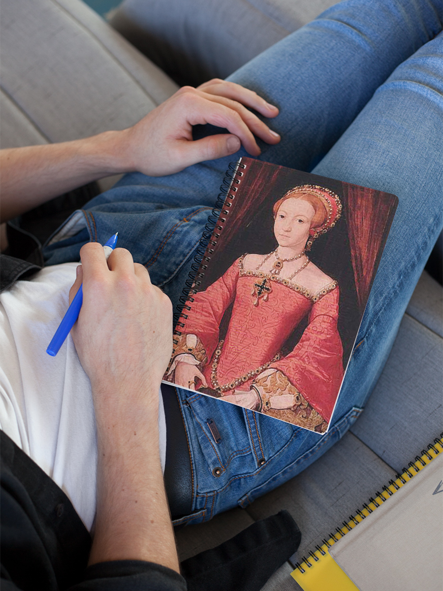 Elizabeth I Digitally Recreated Princess Portrait Spiral Notebook
