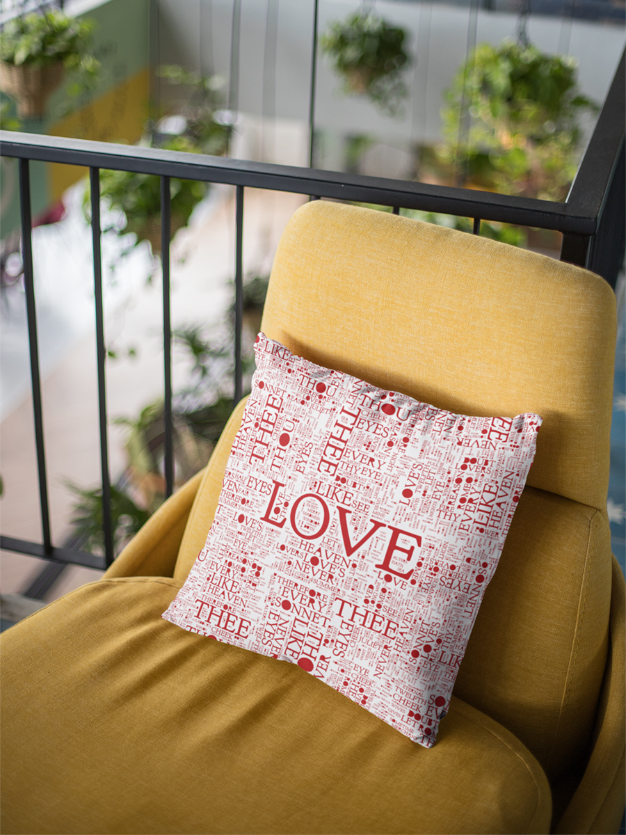 Shakespeare's Top 100 Love Words Throw Pillow