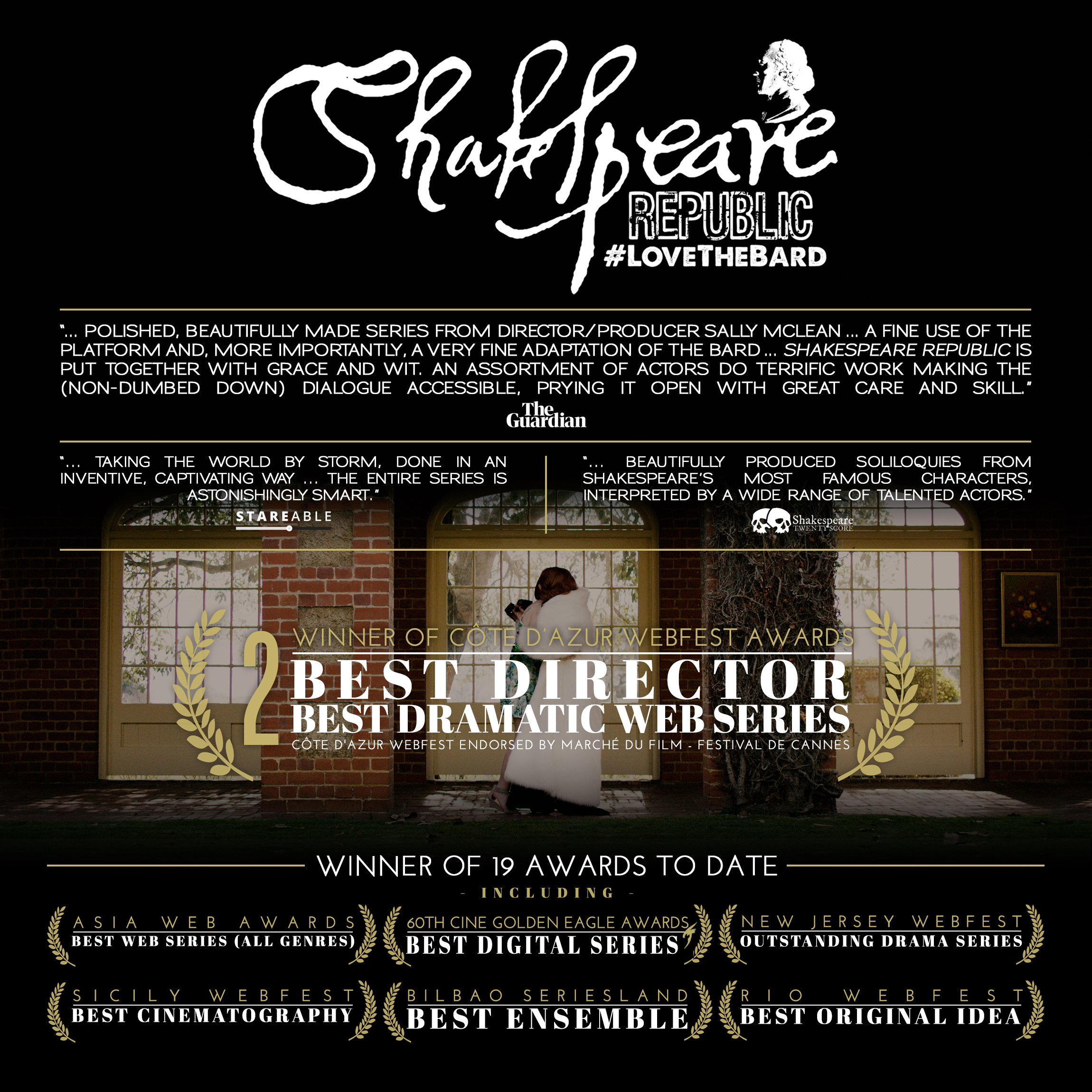 Three more awards for Shakespeare Republic & we screened at Cannes!